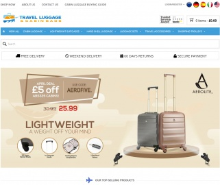 Travel Luggage & Cabin Bags Cashback
