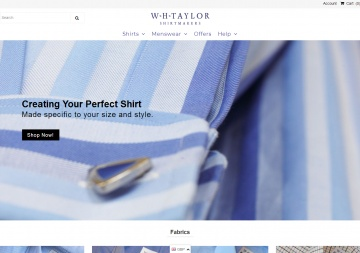 WH Taylor Shirtmakers 現金回饋