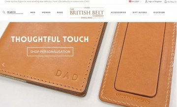The British Belt Company Cashback