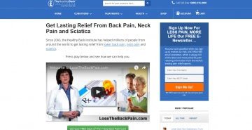 Healthy Back Institute Cashback