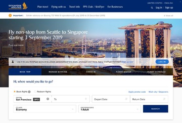 Singapore Airlines Cashback