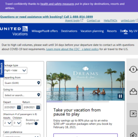 United Vacations Cashback