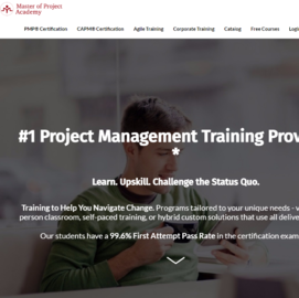 Master of Project Academy Cashback
