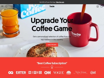 Trade Coffee Cashback