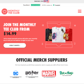 Monthly Tee Club Cashback