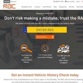 RAC Vehicle History Check Cashback