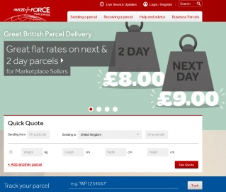 Parcelforce Worldwide 現金回饋