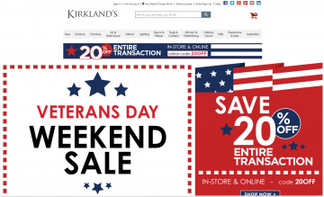 Kirkland's Cash Back