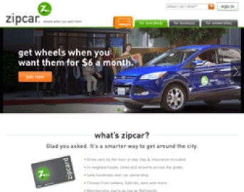 Zipcar Cash Back