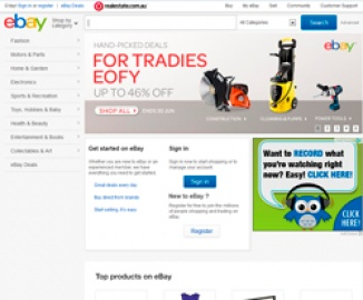 eBay AU Cash Back