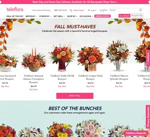 Teleflora Flowers Cash Back