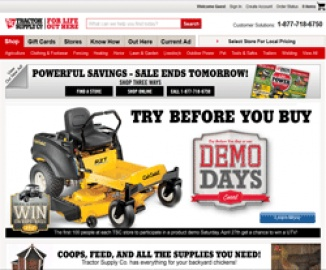 Tractor Supply Company Cash Back