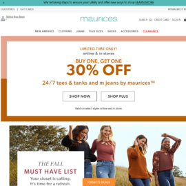 Maurices Cash Back
