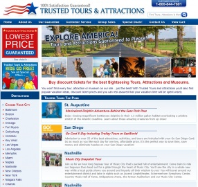 Trusted Tours and Attractions Cashback