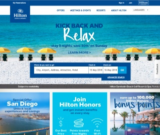 Hilton Hotels Cash Back