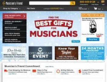 Musicians Friend Cashback