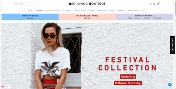 Beginning Boutique Cashback