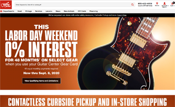 Guitar Center Cashback