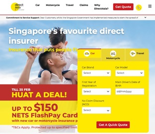 Direct Asia Insurance Cashback